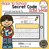 Boom Cards Sight Words 51-75 Secret Code