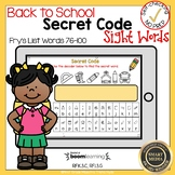 Boom Cards Sight Words 76-100 Secret Code