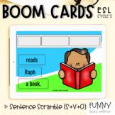 Boom Cards™ Sentence Scramble - Subject + Verb + Object