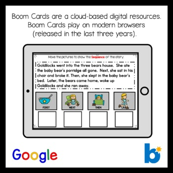 Boom Cards Sequencing Reading Comprehension