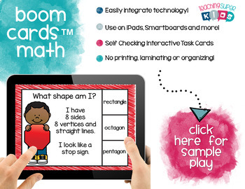 Boom Cards Shape Recognition Task Cards