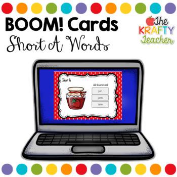 Boom Cards - Short A CVC Words, Digital Interactive Fun and Engaging!