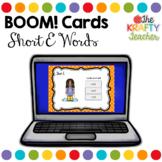 Self Correcting Digital Boom Cards CVC short E words for K