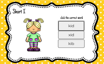 Boom Cards - Short I CVC Words, Digital Interactive Fun and Engaging!