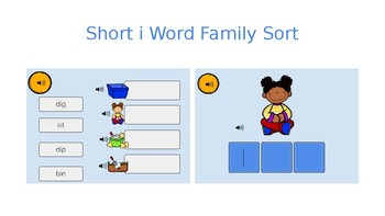 Boom Cards Short I Word Families