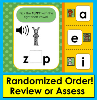 Boom Cards™ Short Vowels - 25 Interactive Self-Chkg Digital Cards -  with Sound!