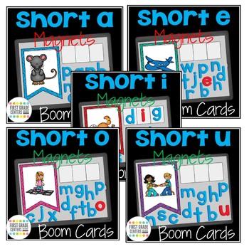Boom Cards Short Vowels Magnet Letters Bundle