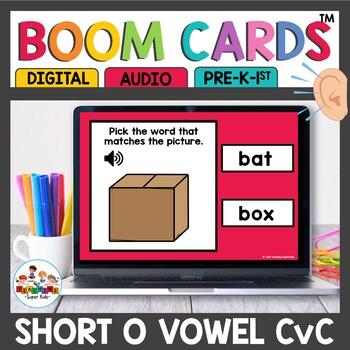 Boom Cards Short o CVC Digital Task Cards