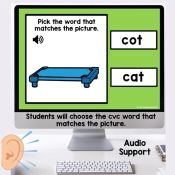 Boom Cards Short vowel CVC Digital Task BUNDLE