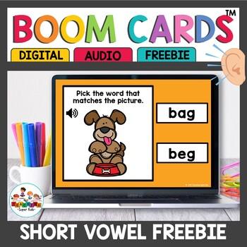 Short vowel CVC Boom Cards Sample Set