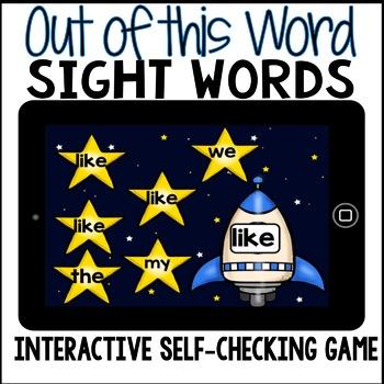 Boom Cards - Digital Sight Word Activities for Kindergarten