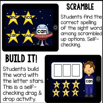 Boom Cards - Digital Sight Word Activities for Kindergarten FREE Preview