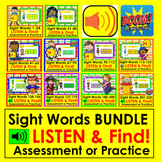 Boom Cards Sight Word Assessment or Practice BUNDLE 220 Wo