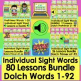 Boom Cards Sight Word BUNDLE Words 1-92 Lessons w/Audio