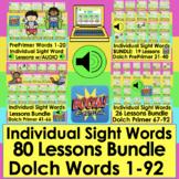 Boom Cards Sight Word Digital BUNDLE DOLCH Words 1-92 Indi