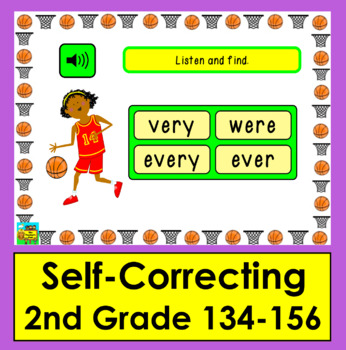 Boom Cards™ Sight Words Assessment 7 MULTIPLE CHOICE -Second Grade Dolch 134-156
