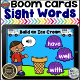 Boom Cards Sight Words  - Build an Ice Cream