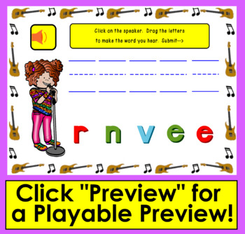 Boom Cards™ Sight Words Unscramble ● Dolch Third Grade Words 180-200-Rock Stars