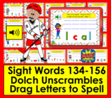 Boom Cards™ Sight Words Unscramble - Second Grade Dolch 134-156 - With Sound!