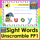 Boom Cards™ Sight Words Unscramble SUMMER Dolch 1-24 PrePr
