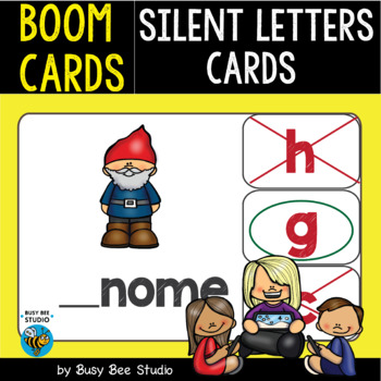 Boom Cards | Silent Consonant Letters Cards