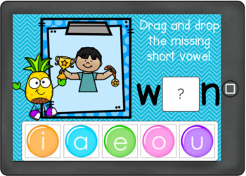 Boom Cards Short Vowels Drag and Drop