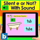 Boom Cards™ Silent e - 25 Interactive Self-Checking Digital cvce