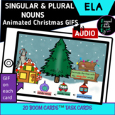 Boom Cards™ Singular & Plural Nouns with Animated Christmas Gifs