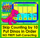 Boom Cards™ Skip Counting By 10 to 100 By Dragging Dinosaurs!