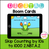 Boom Cards Skip Counting by 10s to 1000 2.NBT.A.2 Distance Learning