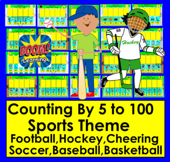Boom Cards Math Skip Counting by 5 - Sports Theme Digital Interactive No Prep