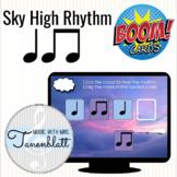 Boom Cards Sky High Rhythm: Quarter and Eighth Notes