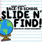 Boom Cards™️ Slide N' Find!- Back to School