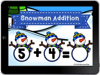 Boom Cards Snowman Addition to 10