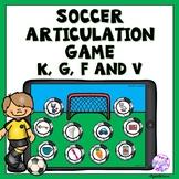 Boom Cards Soccer Articulation Game for K, G, F and V