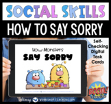 Boom Cards Social Story 9 How Monsters Say Sorry SEL Distance Learning