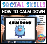 Boom Cards Social Story How Monsters Calm Down SEL Distanc