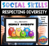 Boom Cards Social Story How Monsters Respect Diversity SEL