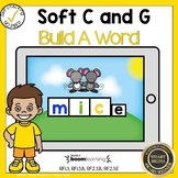 Boom Cards Soft C and G Build a Word