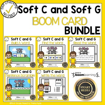 Boom Cards Soft C and Soft G Bundle