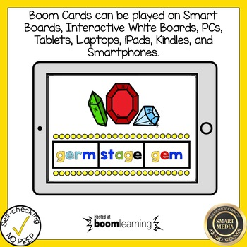 Boom Cards Soft C and Soft G Find the Word