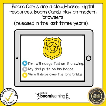 Boom Cards Soft C and Soft G Read the Word