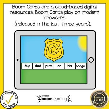 Boom Cards Soft C and Soft G Sentence Scrambles