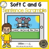 Boom Cards Soft C and Soft G Sentence Scrambles