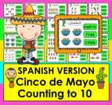 Boom Cards™ Spanish Number Words 0-10 Cinco de Mayo Math