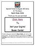 Boom Cards Spanish Preterite AR Verbs - At The Beach