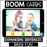 EXPANDING SENTENCES Boom Cards™Speech Therapy Distance Learning