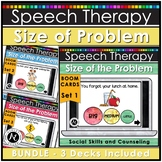 Speech Therapy Boom Cards™ Size of Problem Activities BUNDLE