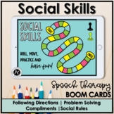 Boom Cards™ Speech Therapy Social Skill Interactive Games