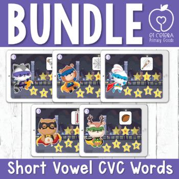 Boom Cards™ Spell CVC Words Bundle